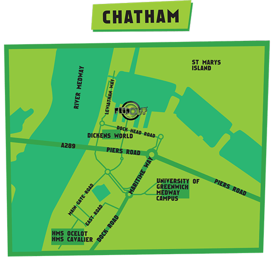 FlipOut Chatham Map