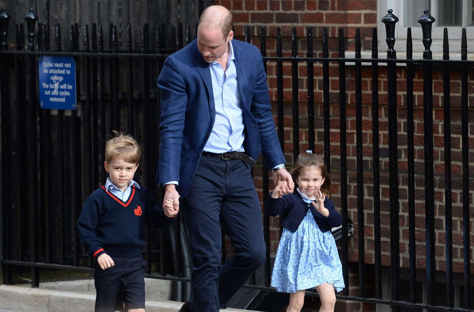 Both Prince George and Princess Charlotte will need to adapt to the birth of their baby brother