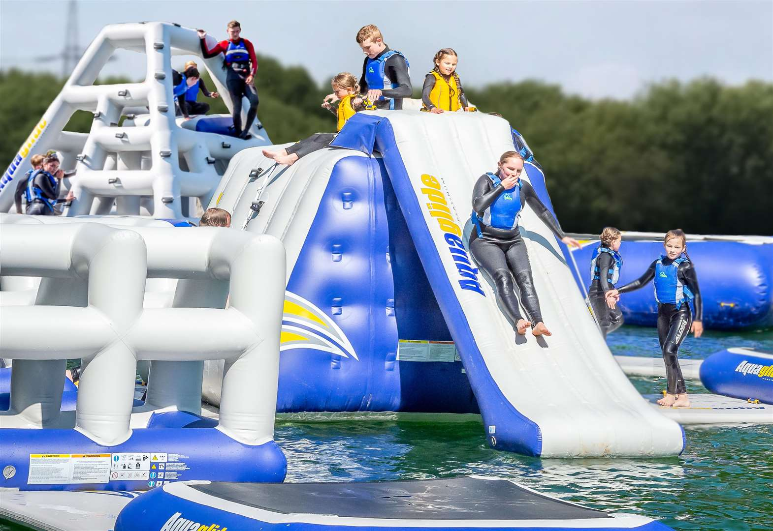 Inflatable water park opens