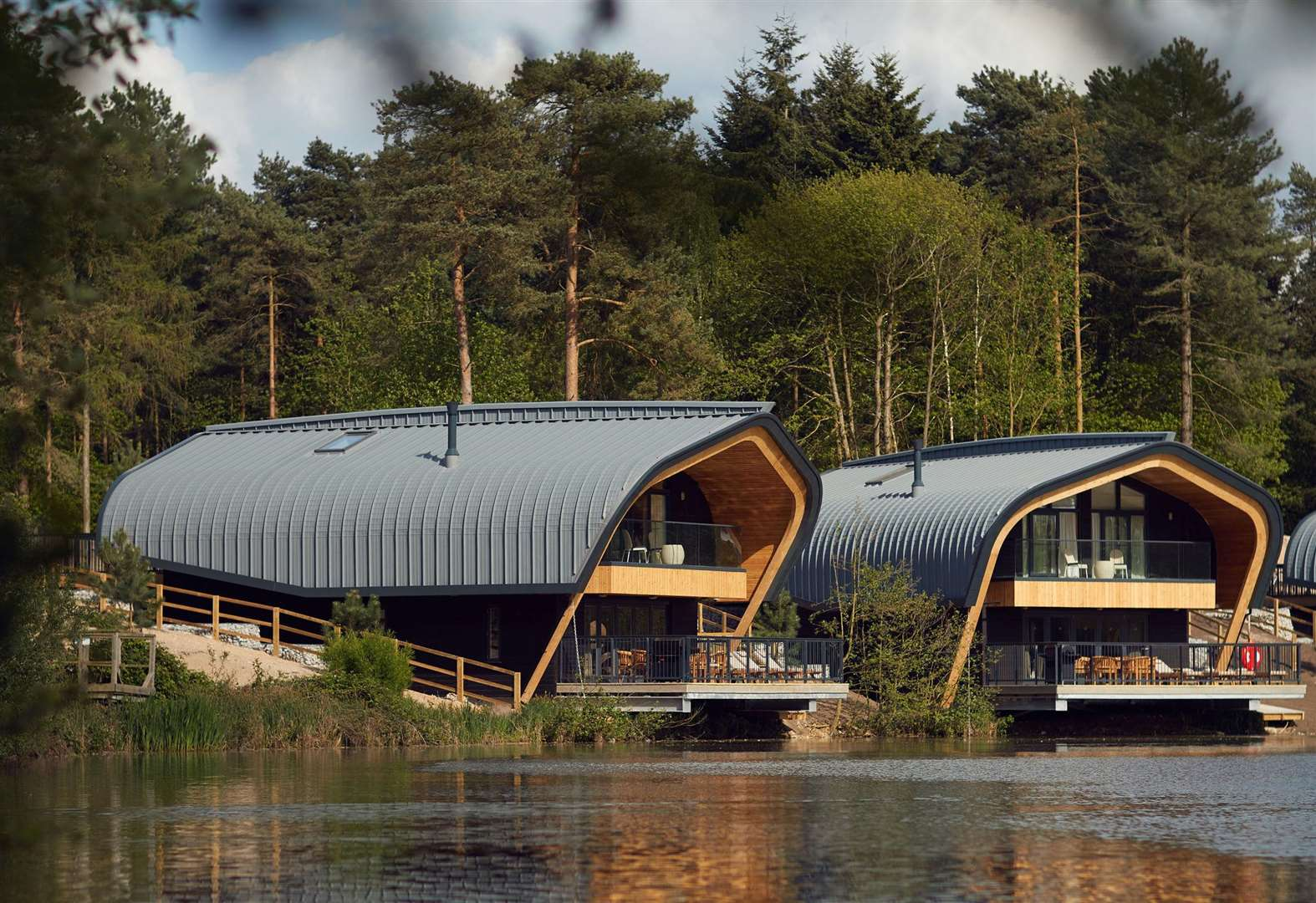 Check out the super swanky lakeside lodges at Centre Parcs