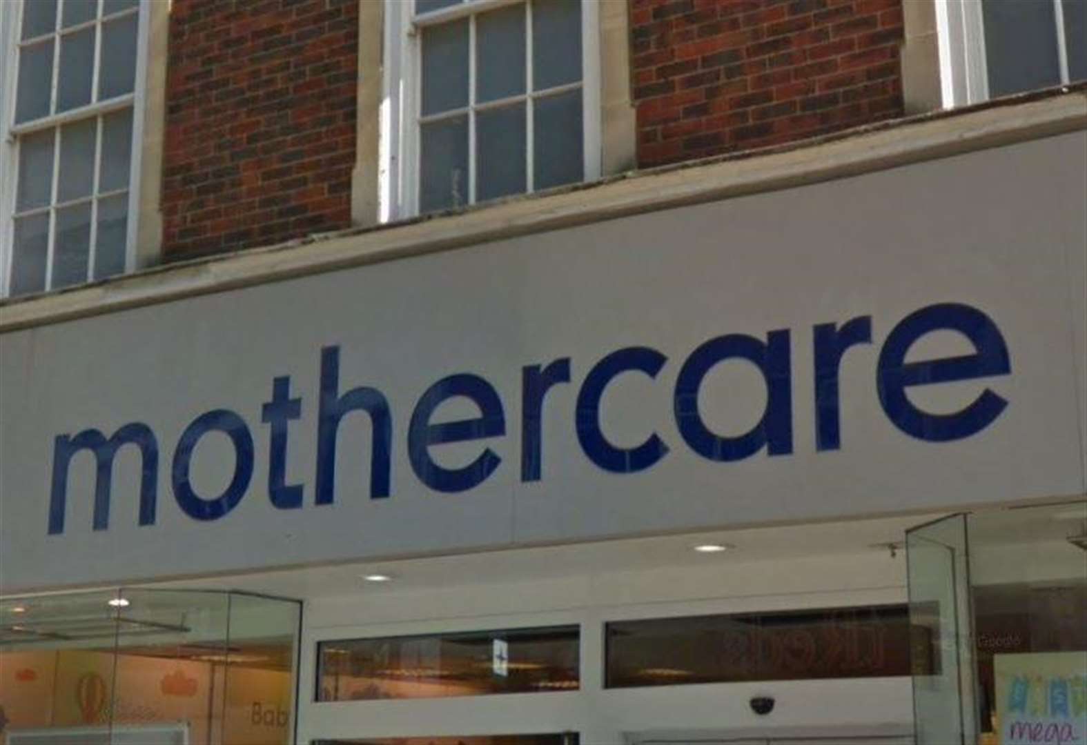 Closing down sale at Mothercare store
