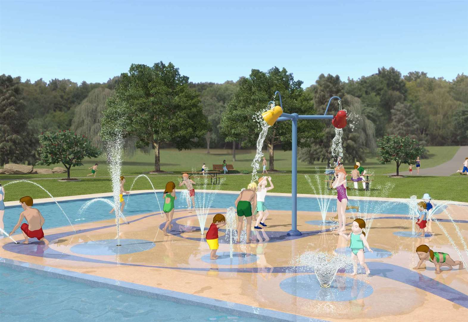 New splash pad for park