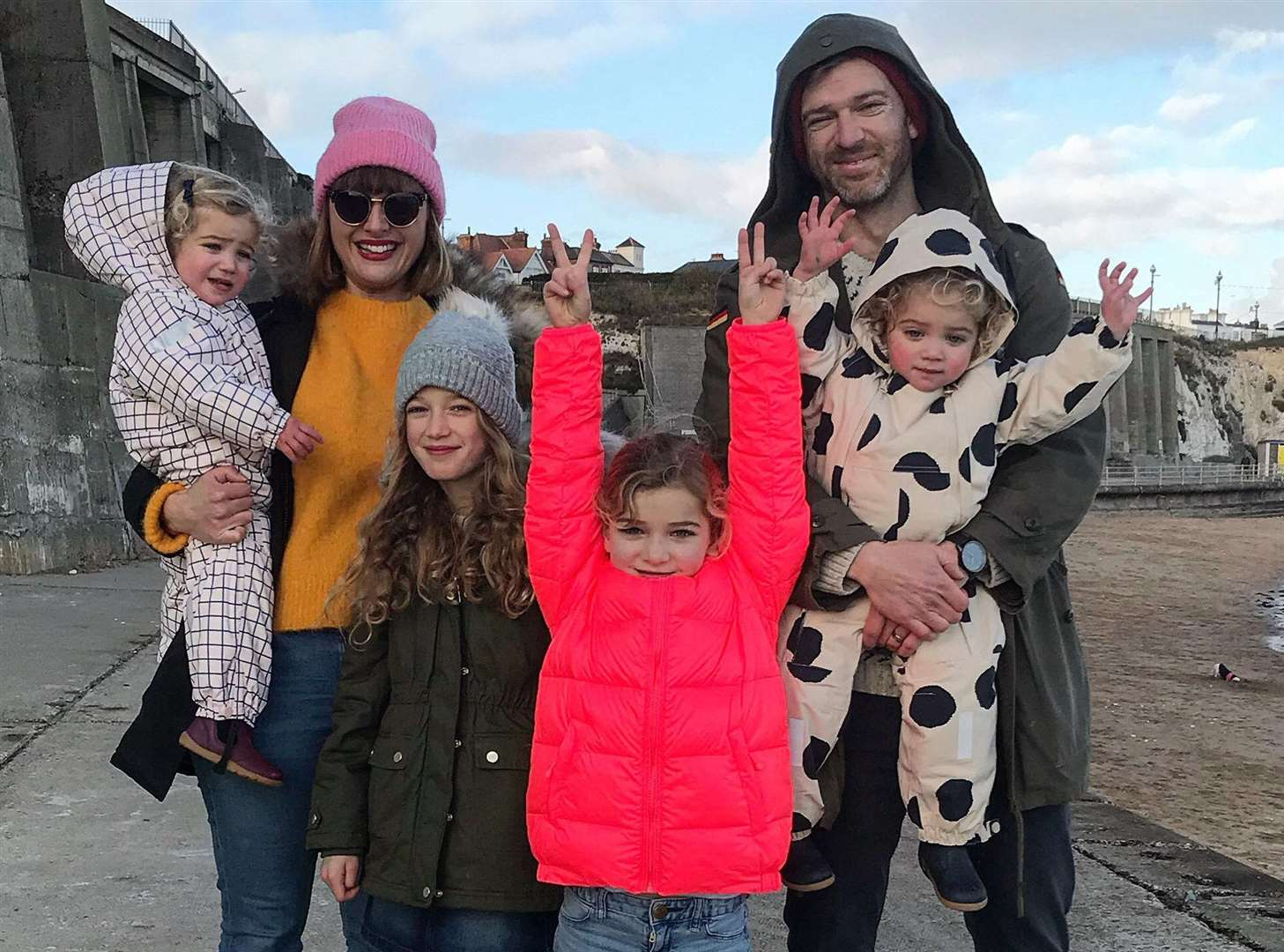 Clemmie, her husband Simon Hooper and their four daughters