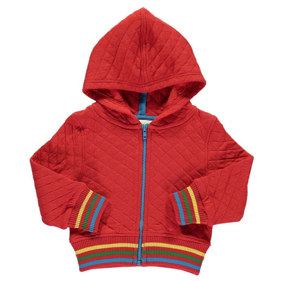This quilted hoody is suitable for girls and boys