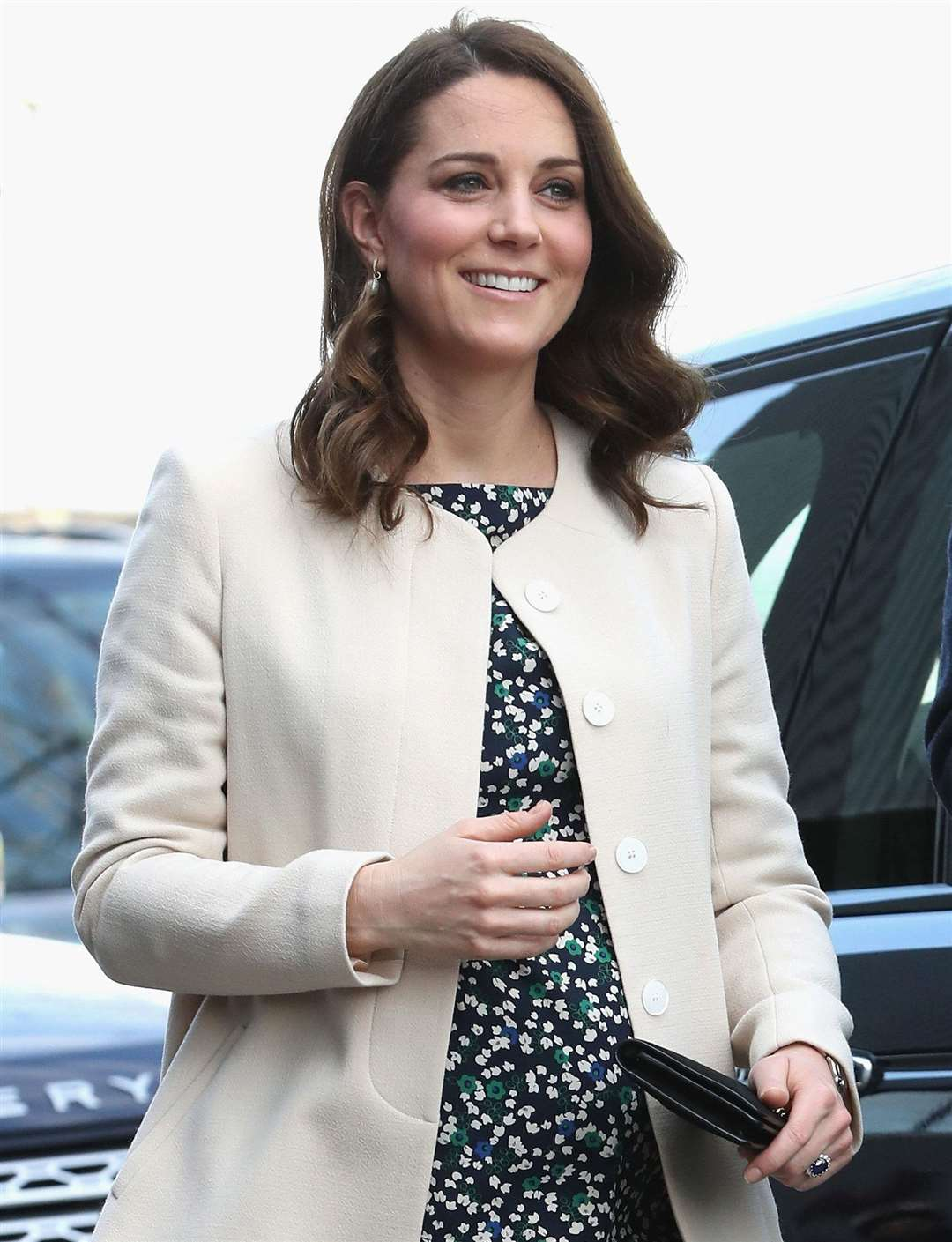 The Duchess of Cambridge arriving at a SportsAid event in the Olympic Park last month