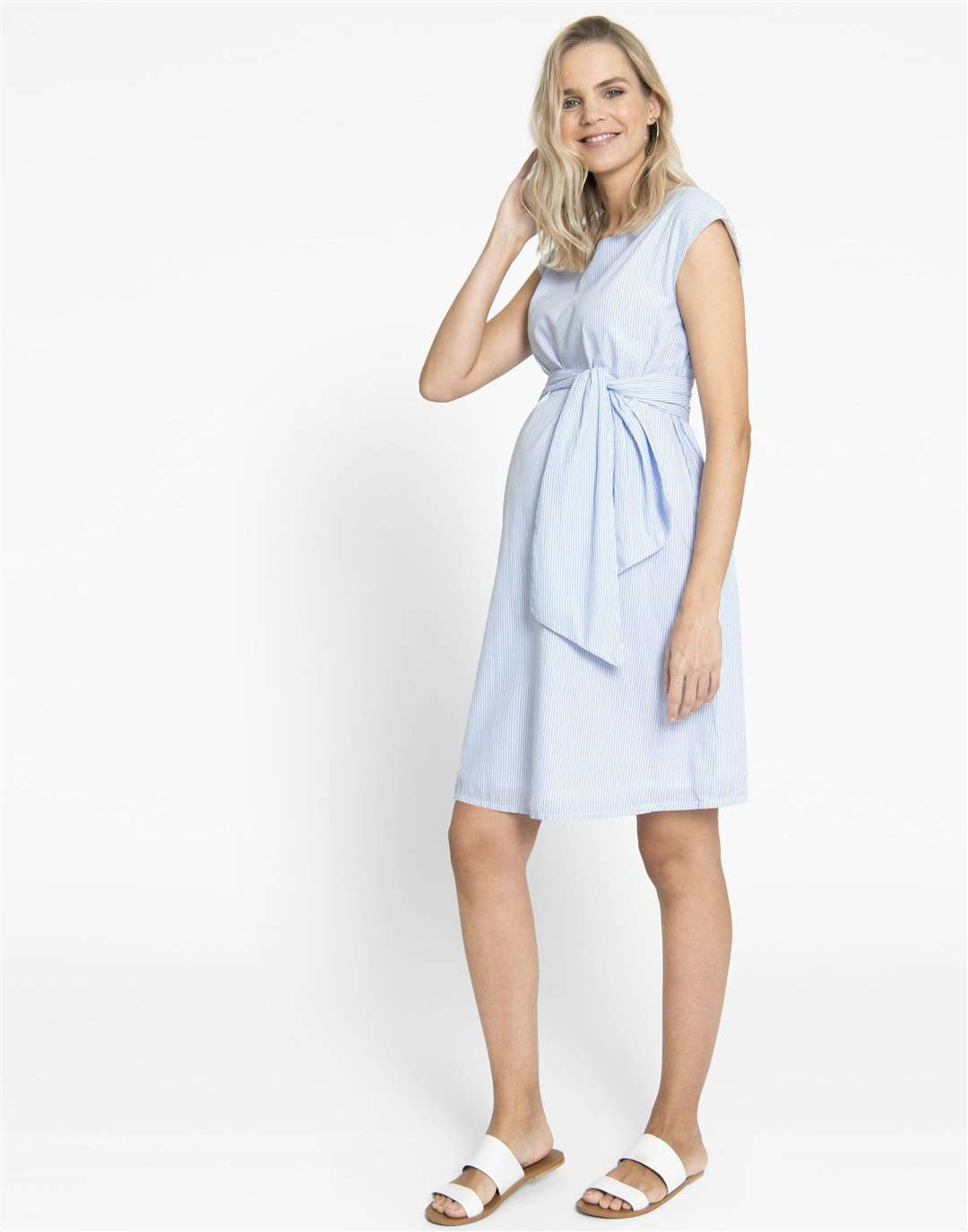 Blue pinstripe dress from JoJo Maman Bebe