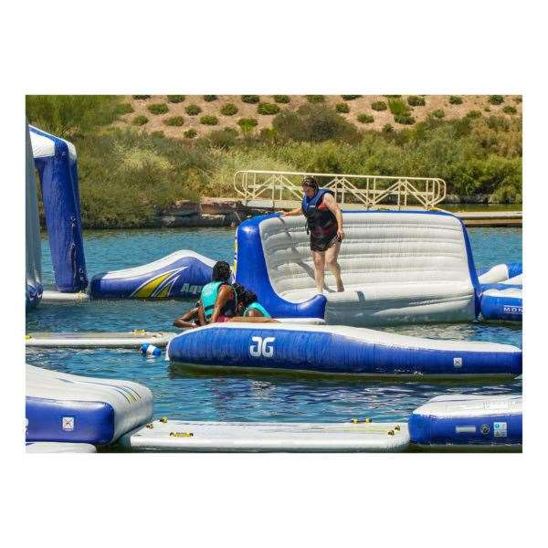 The aqua park at St Andrews Lakes is due to open in May. Picture: Aquaglide Aquaparks