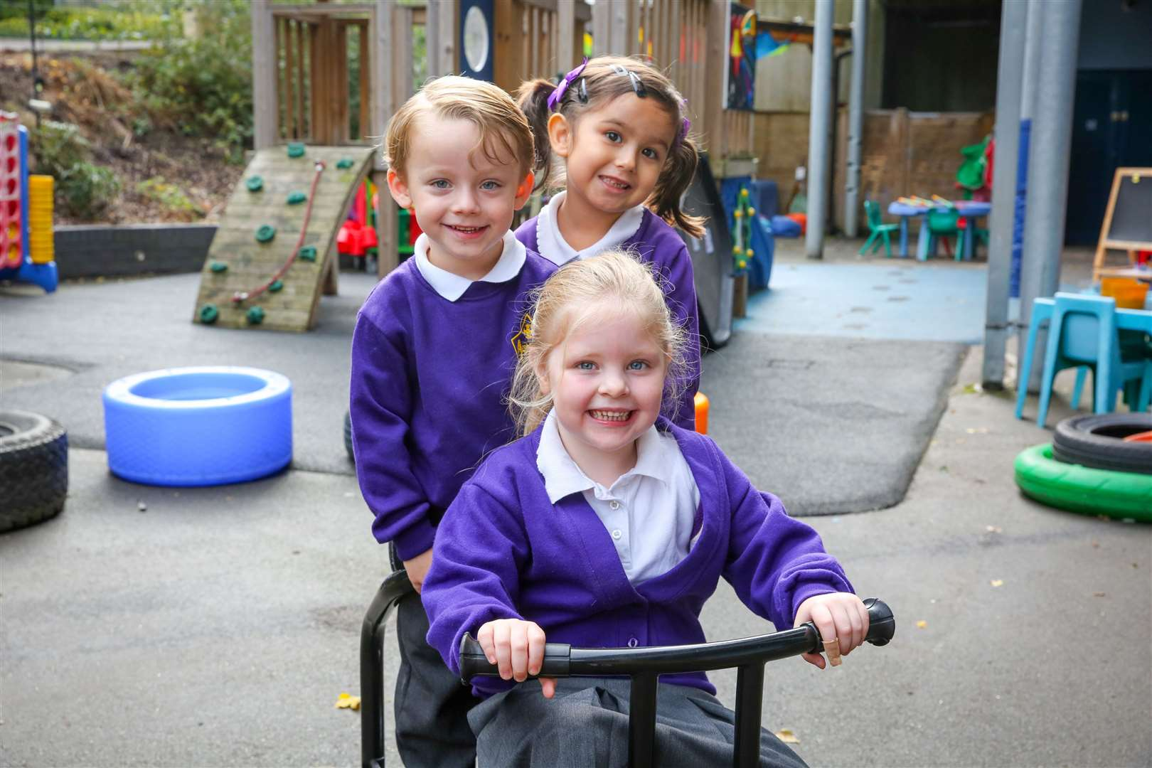 Our photographs have been capturing reception pupils as they settle in at school