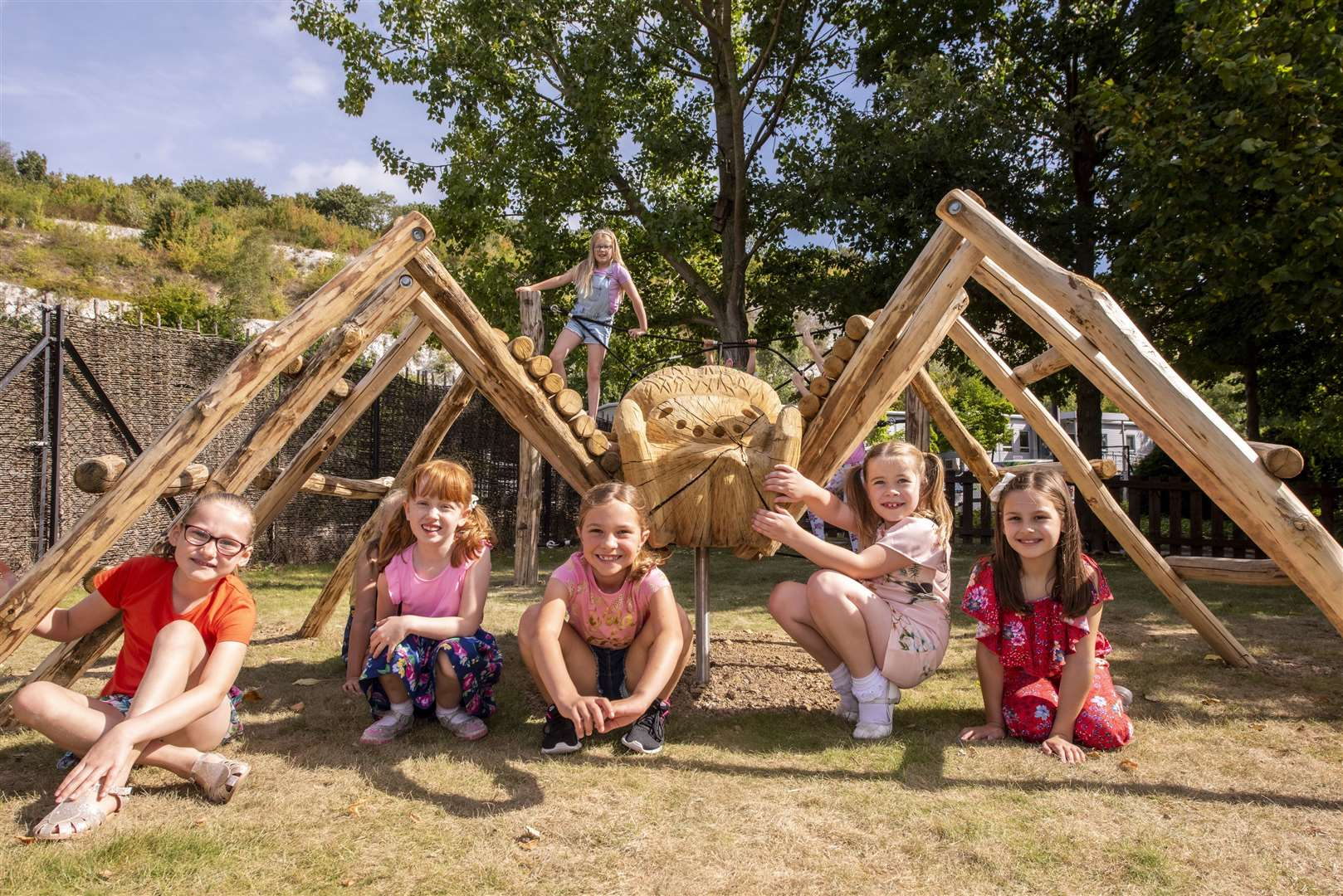 A new climbing frame also opened at Bluewater this summer