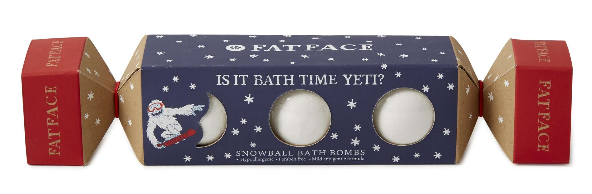 Snowball bath bombs from Fat Face, £5