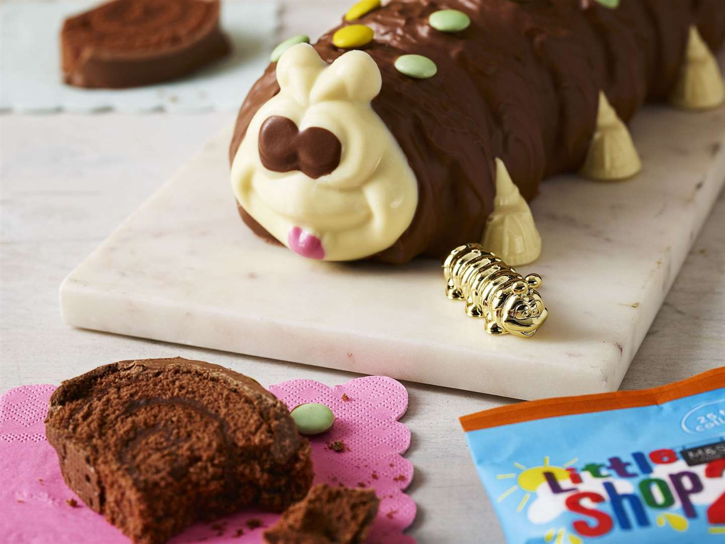 Colin the Caterpillar is a special golden collectable