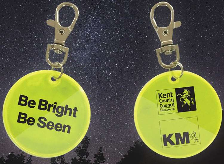 Don't forget to go online and order your Be Bright Be Seen keyring