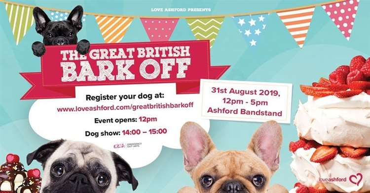 Cake and dog show in Kent at the Great British Bark Off 2019 in Ashford