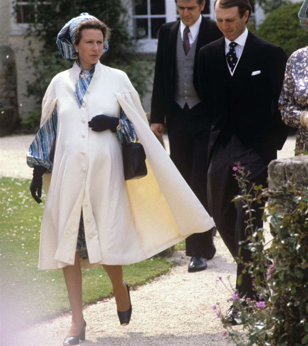 Princess Anne, while pregnant with her second child, and husband Captain Mark Phillips