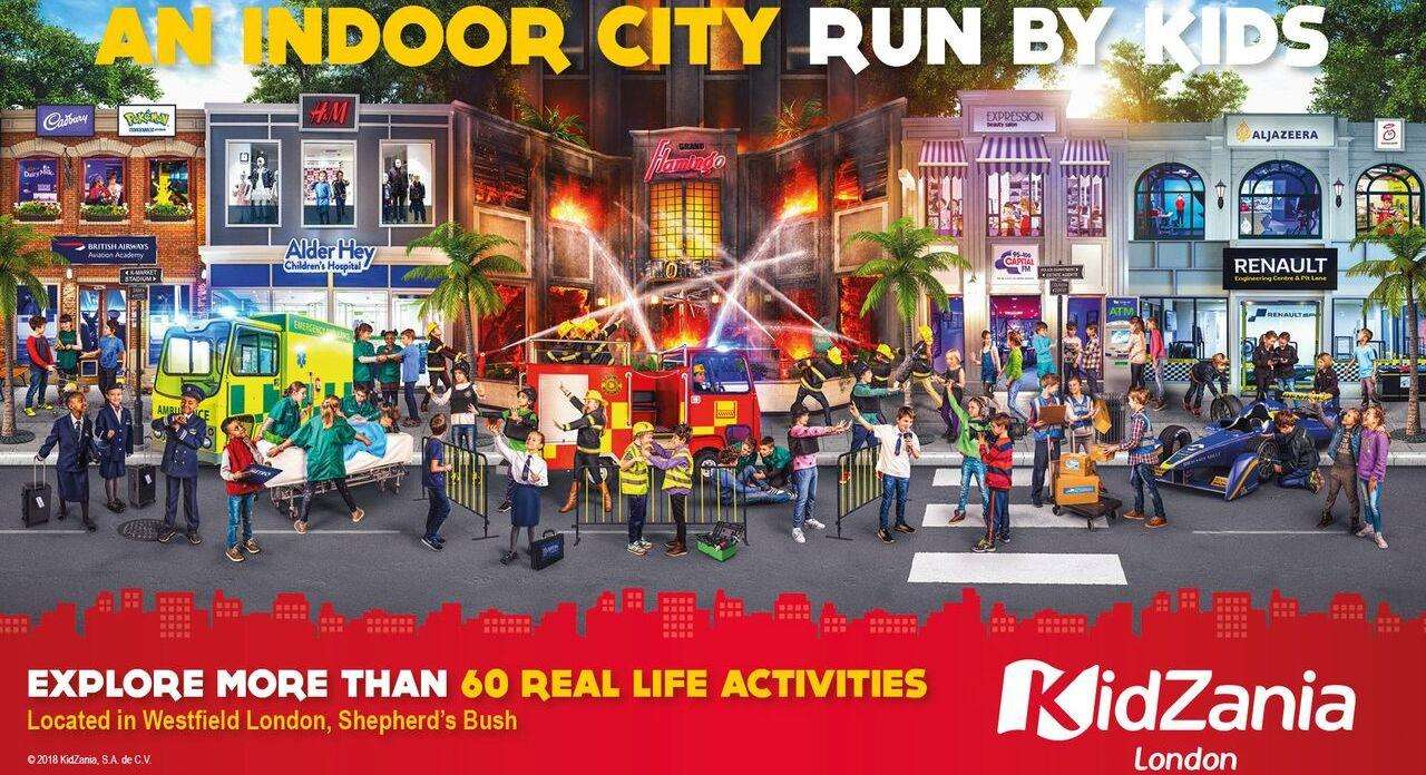 KidZania is a chain of popular indoor family entertainment centres across the world where kids can role play adult jobs