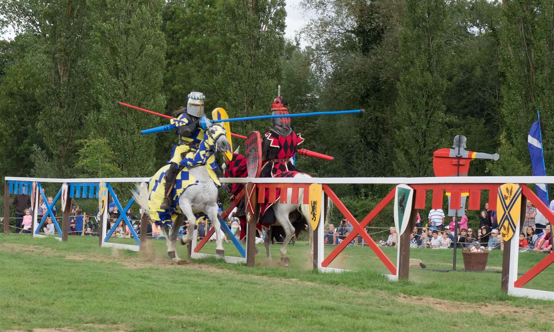 Jousting at Hever Castle is taking place across the bank holiday weekend