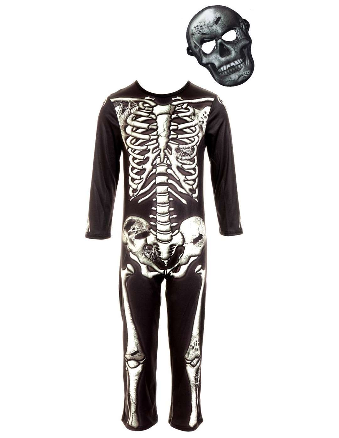 Skeleton Costume with Mask (3-12 Years) £12