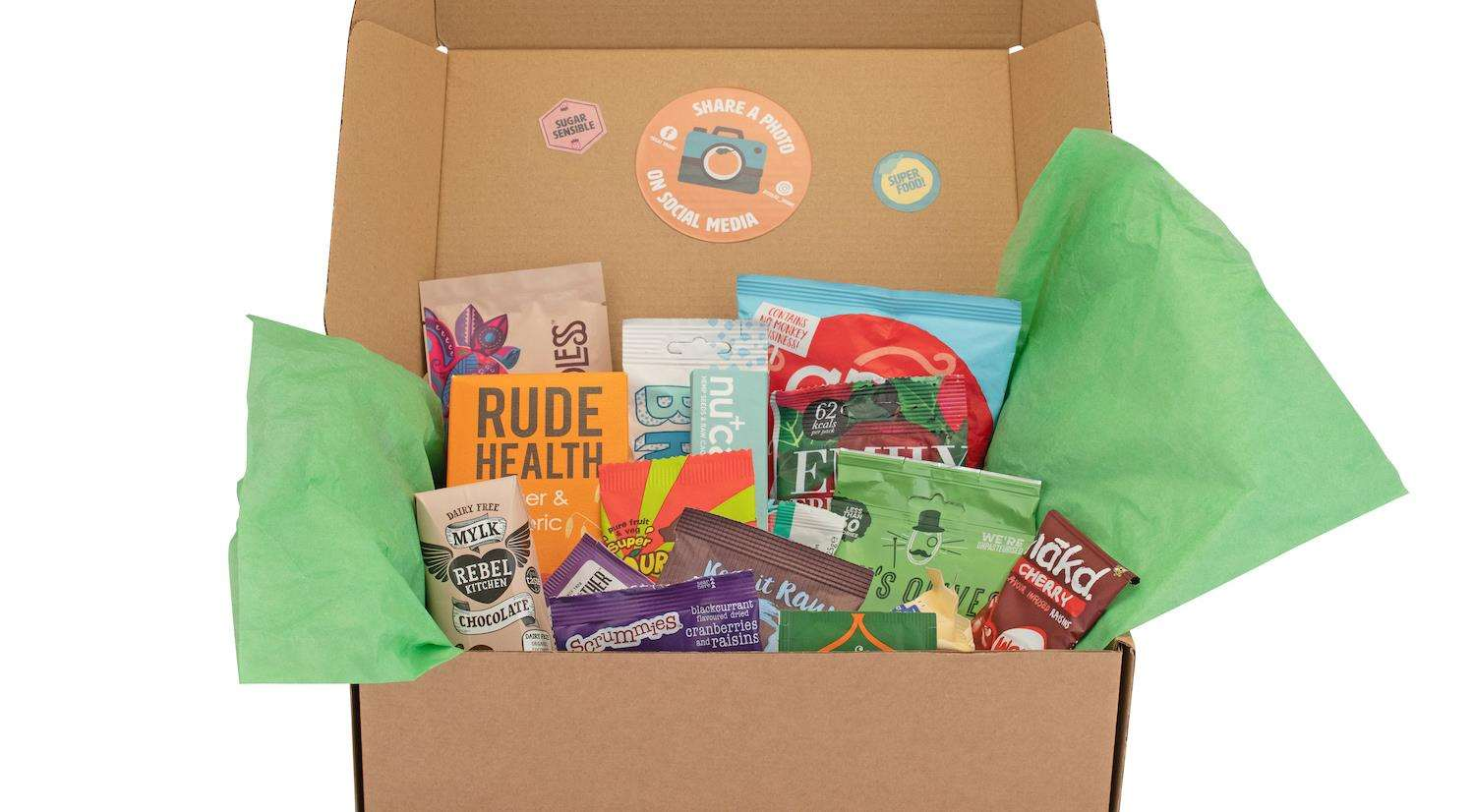 Treat Trunk boxes are full of healthy snacks