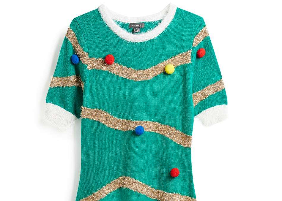 It could be one step further than a Christmas jumper - the tree dress is £16 from Primark.