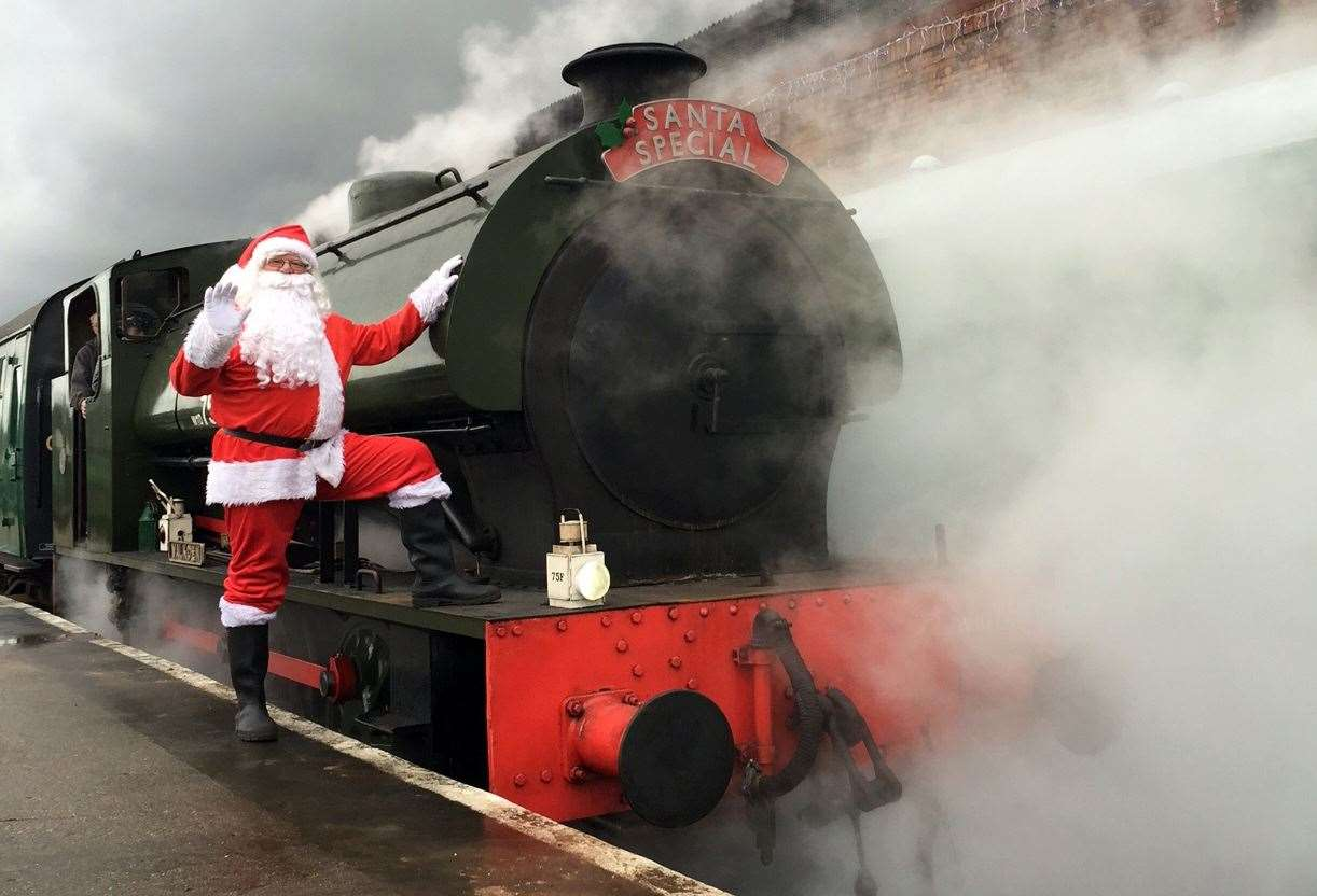 Take a train ride with Santa