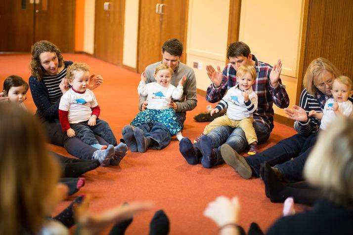 Babies and Toddlers learning through play at Musical Bumps Medway