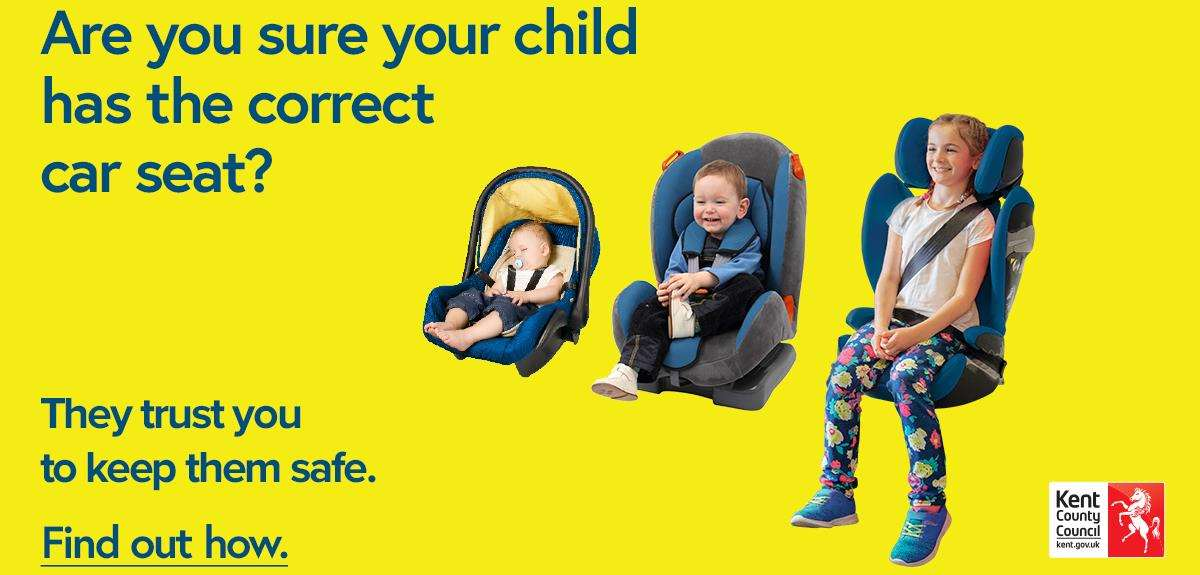 The KCC Road Safety team will be on hand to highlight issues including car seat incompatible with cars, damaged car seats or a wrong size seats for children (3439036)
