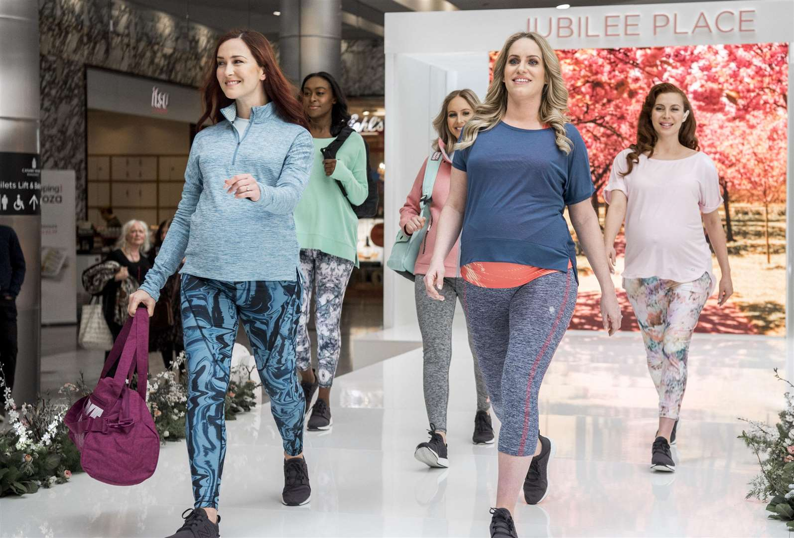 The Canary Wharf maternity fashion show
