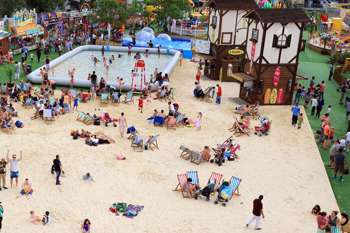 The beach is coming to Bluewater
