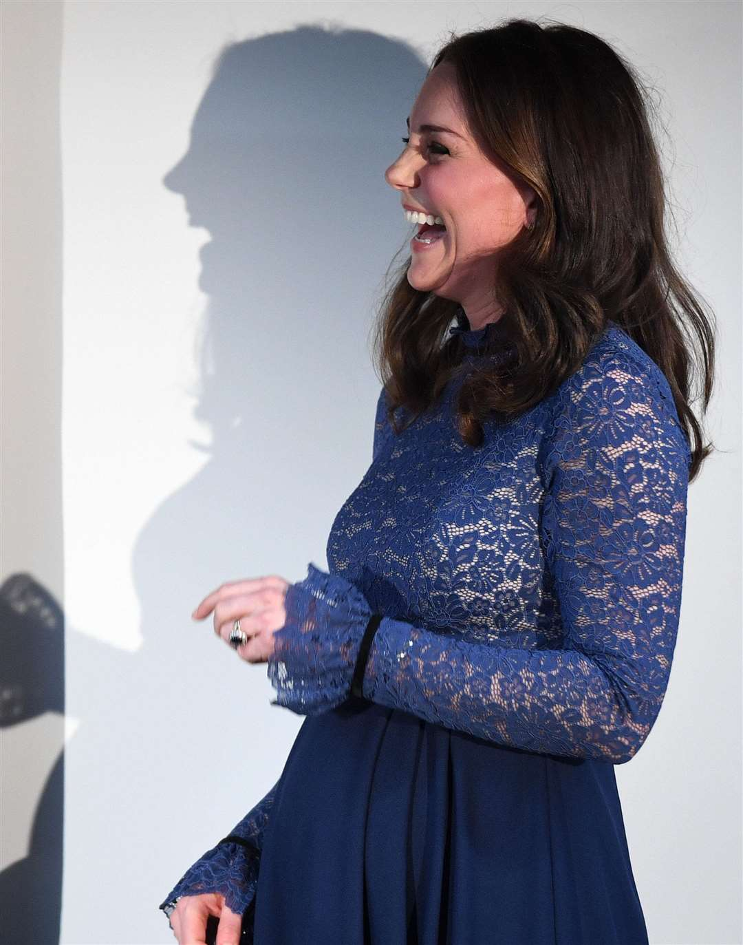 A heavily pregnant Duchess of Cambridge