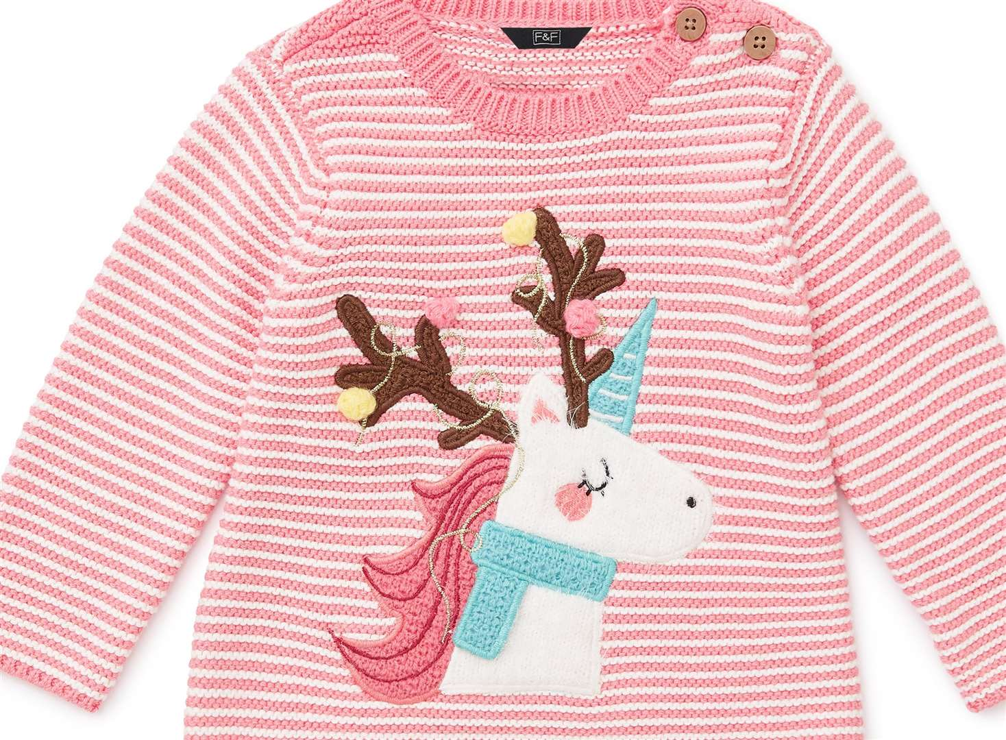 Little girls will be pretty in pink thanks to this jumper which is only £8 from F&F at Tesco