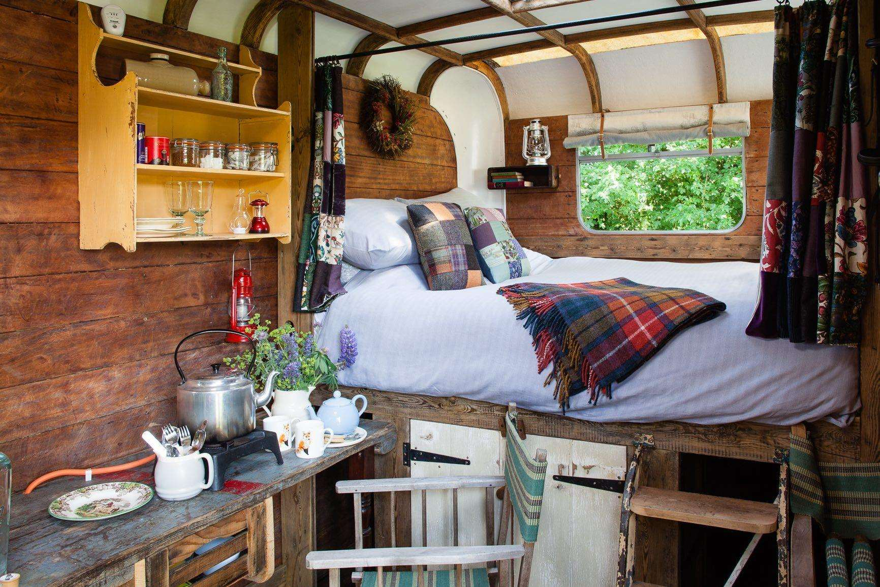 Enjoy a good nights sleep in this converted horse box