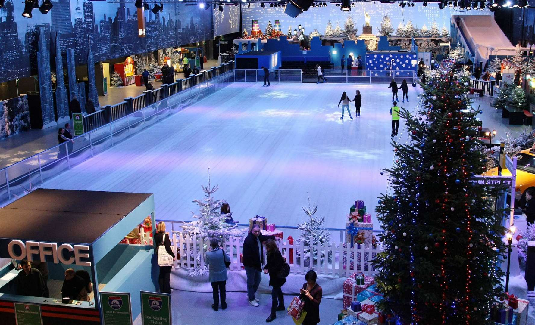 An ice rink similar to that at Bluewater will be in the Dane John Gardens later this year. Photo: Hugo Philpott/PA Wire