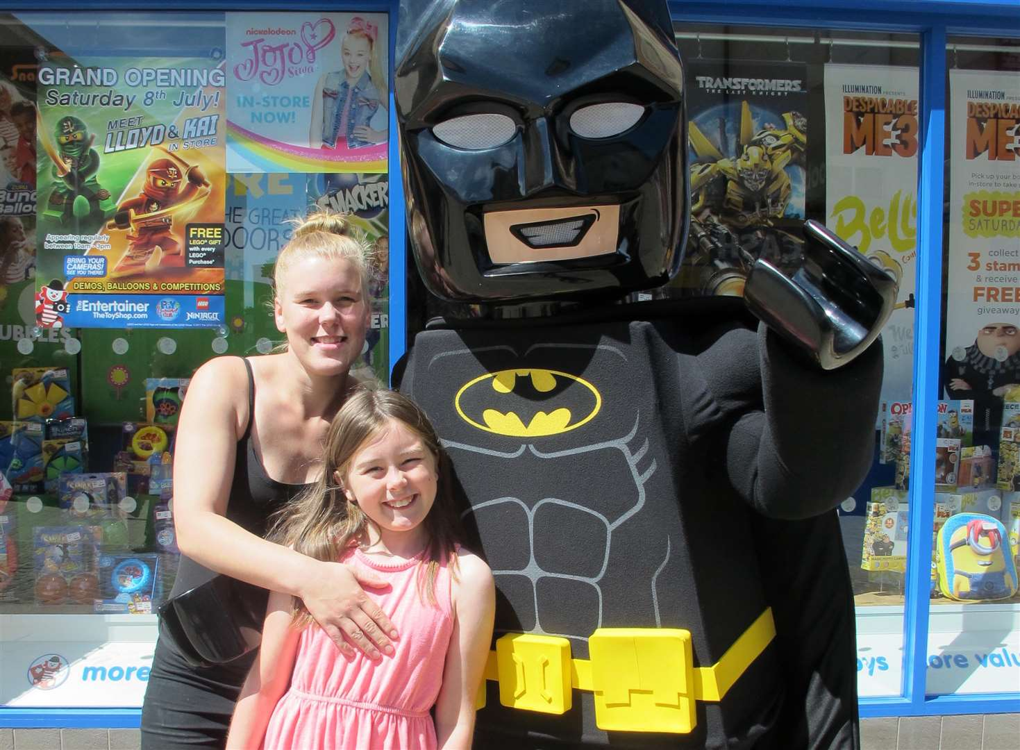 LEGO Batman will be meeting customers this Saturday
