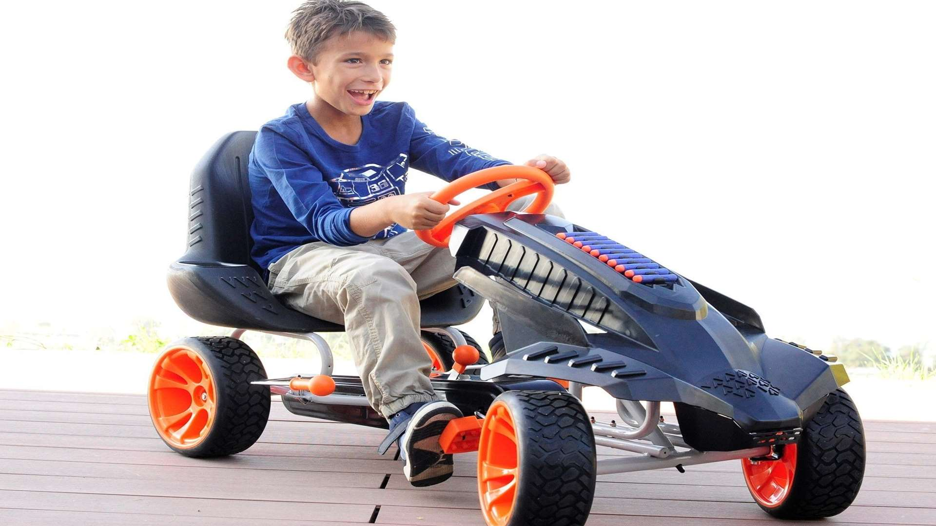 The Nerf Battle Racer go cart