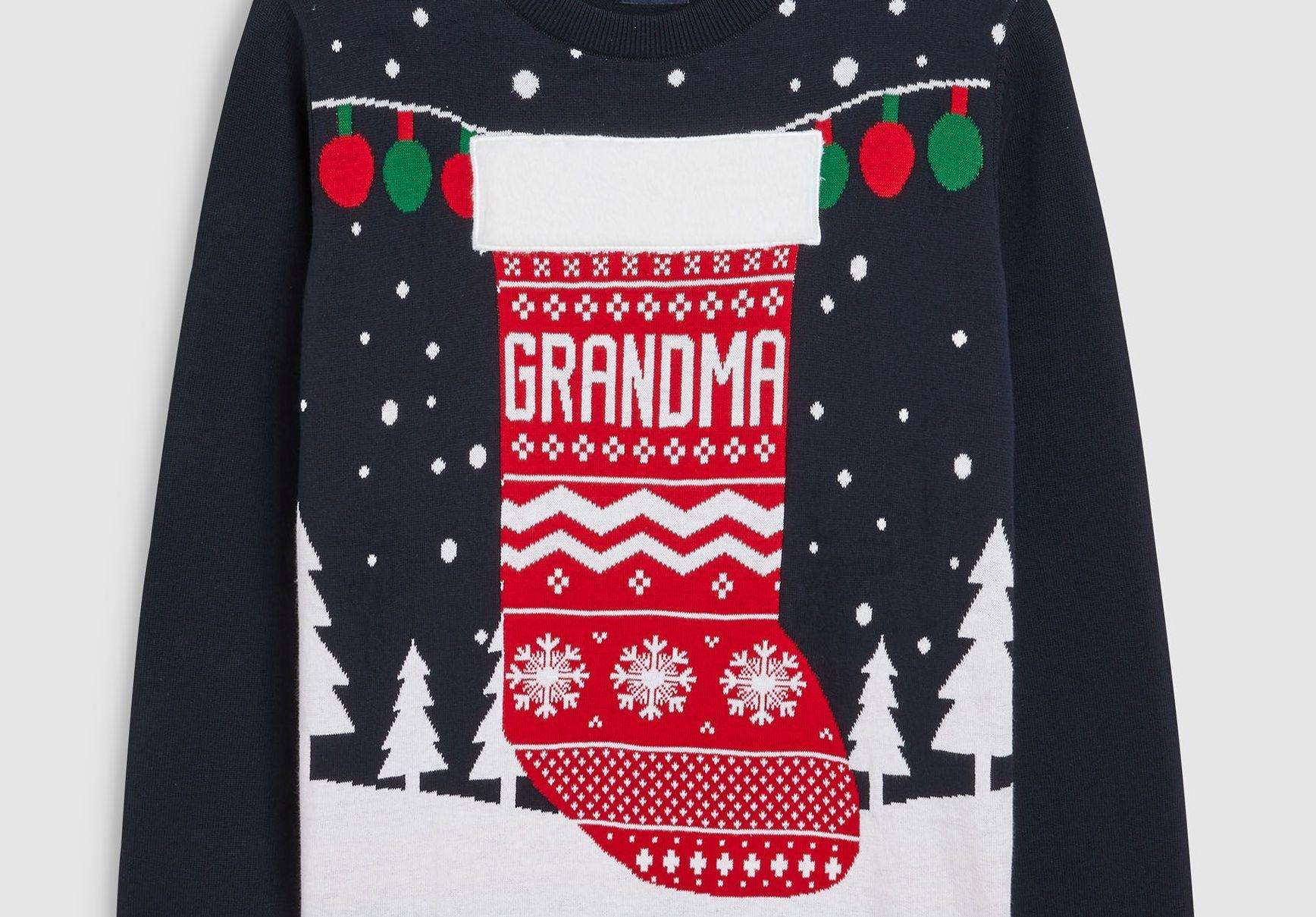You're never too old for a Christmas jumper. This grandma christmas stocking version is £26 at Next.