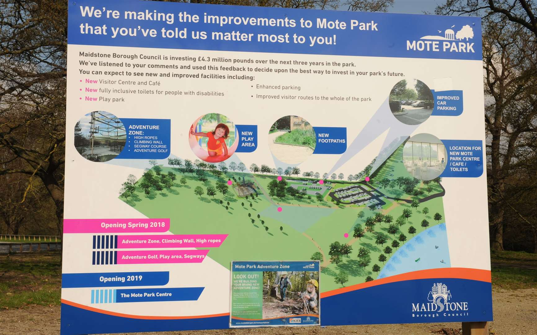 The new playground is just part of a big programme of improvements for Mote Park