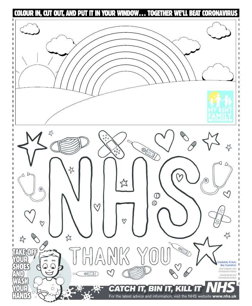 Colour in this poster to thank our key workers and display it in your window