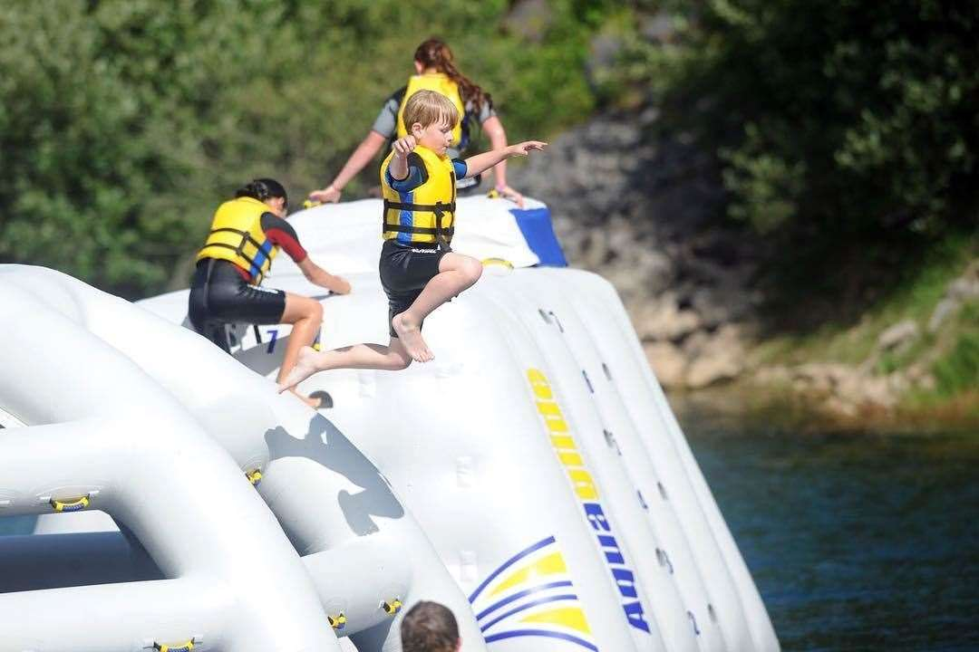 The aqua park at St Andrews Lakes is another addition to its popular offering of watersports activities