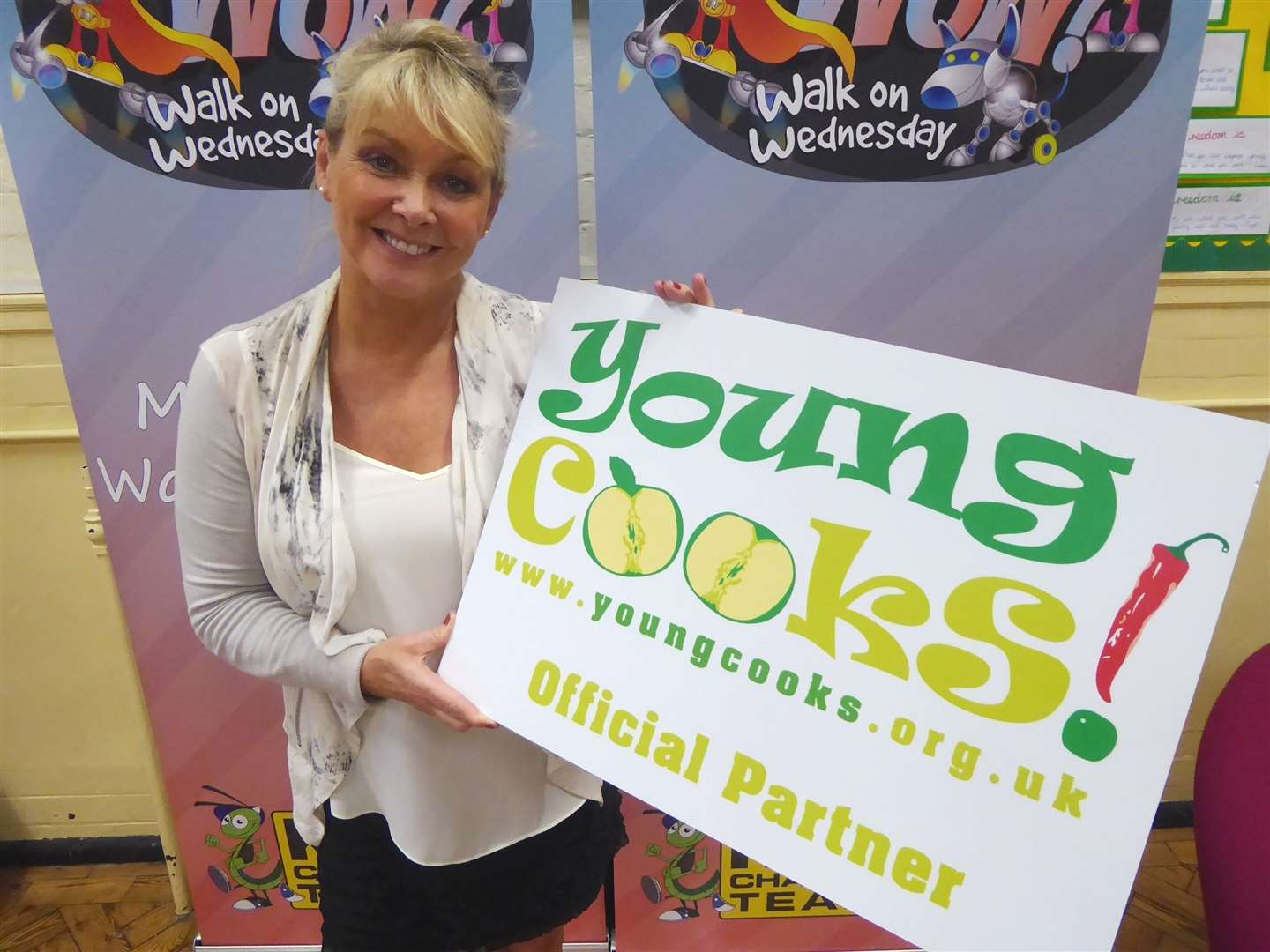 Singer and presenter Cheryl Baker supports Young Cooks