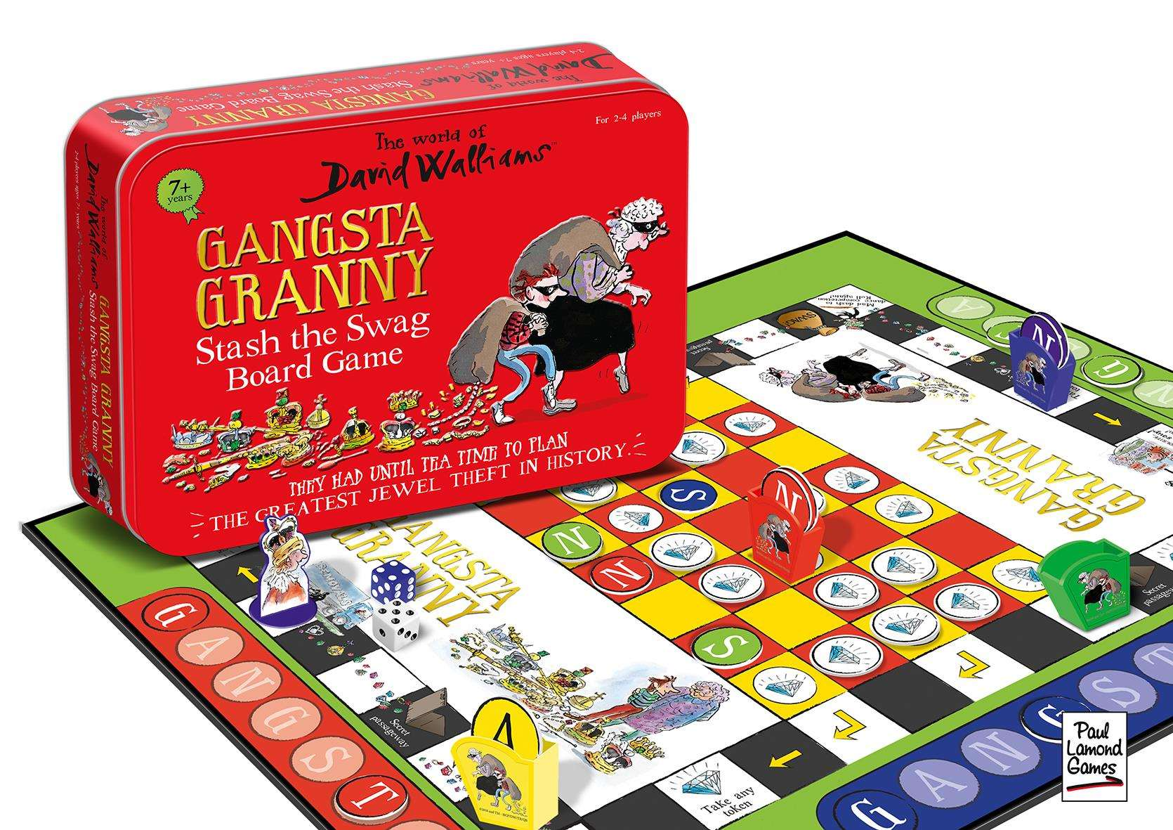 A board game based on the popular children's book Gangsta Granny has made the top 25
