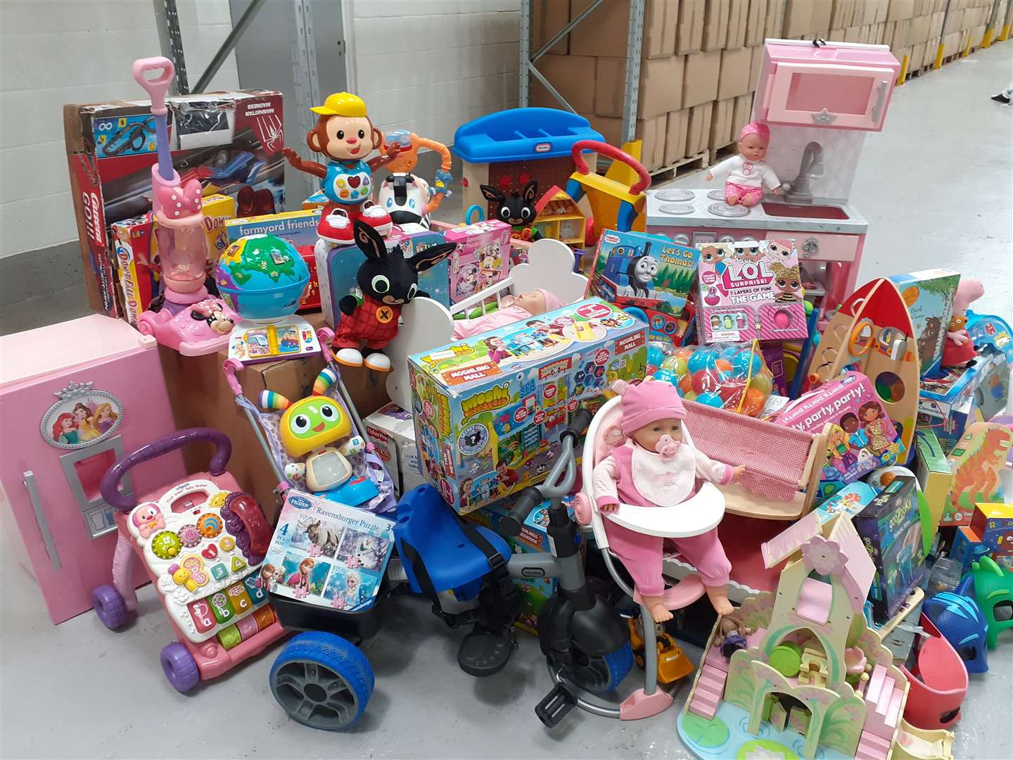 Unwanted toys collected by The Entertainer will be passed to The Salvation Army