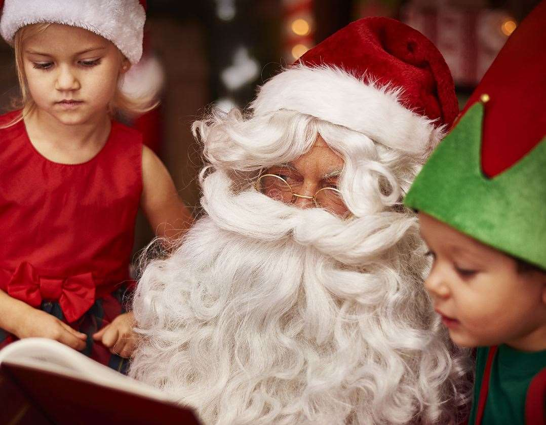 Children can enjoy free storytelling sessions with Father Christmas in Maidstone