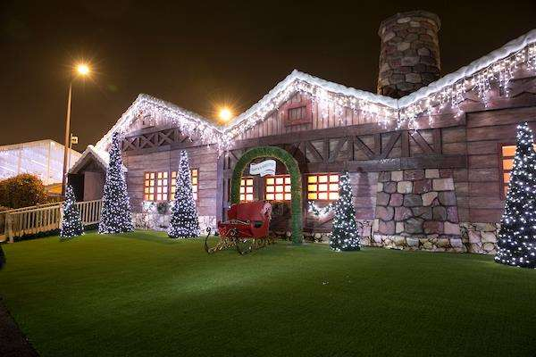 Santa's home by the lake at Bluewater last year