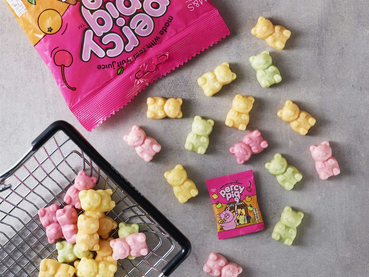 Grab your own pack of Percy Pigs to play with