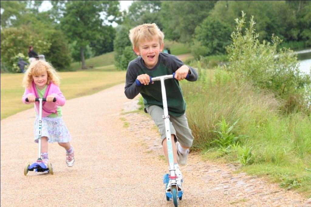 If the kids got scooters for Christmas try them out in one of Kent's parks or playgrounds
