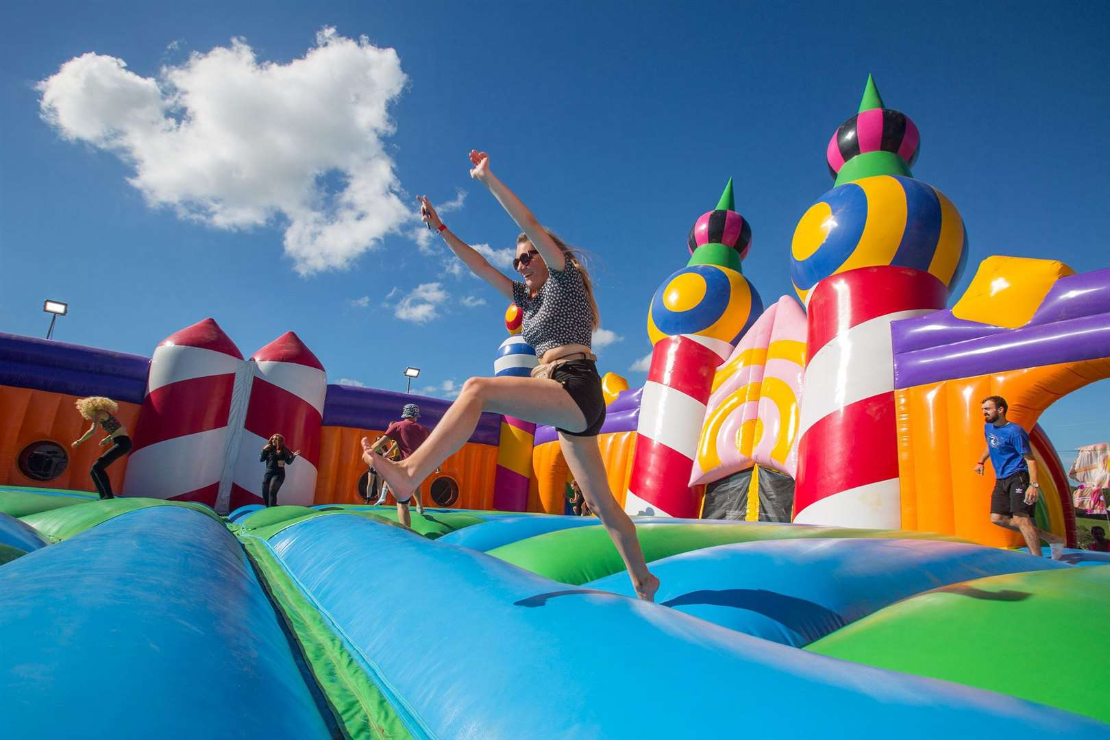 The world's biggest bouncy castle is back!