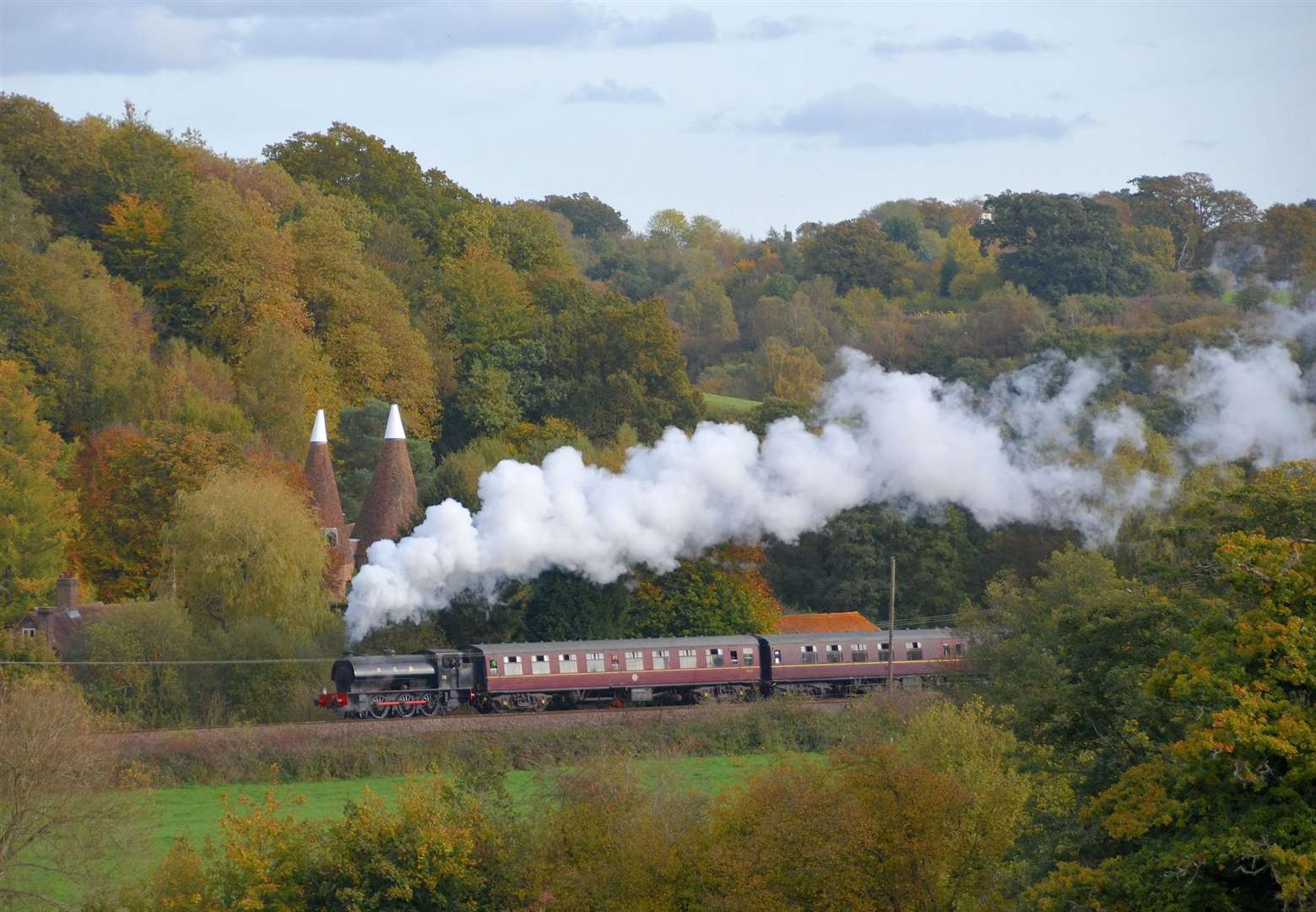 The train rides will take you through the Kent countryside