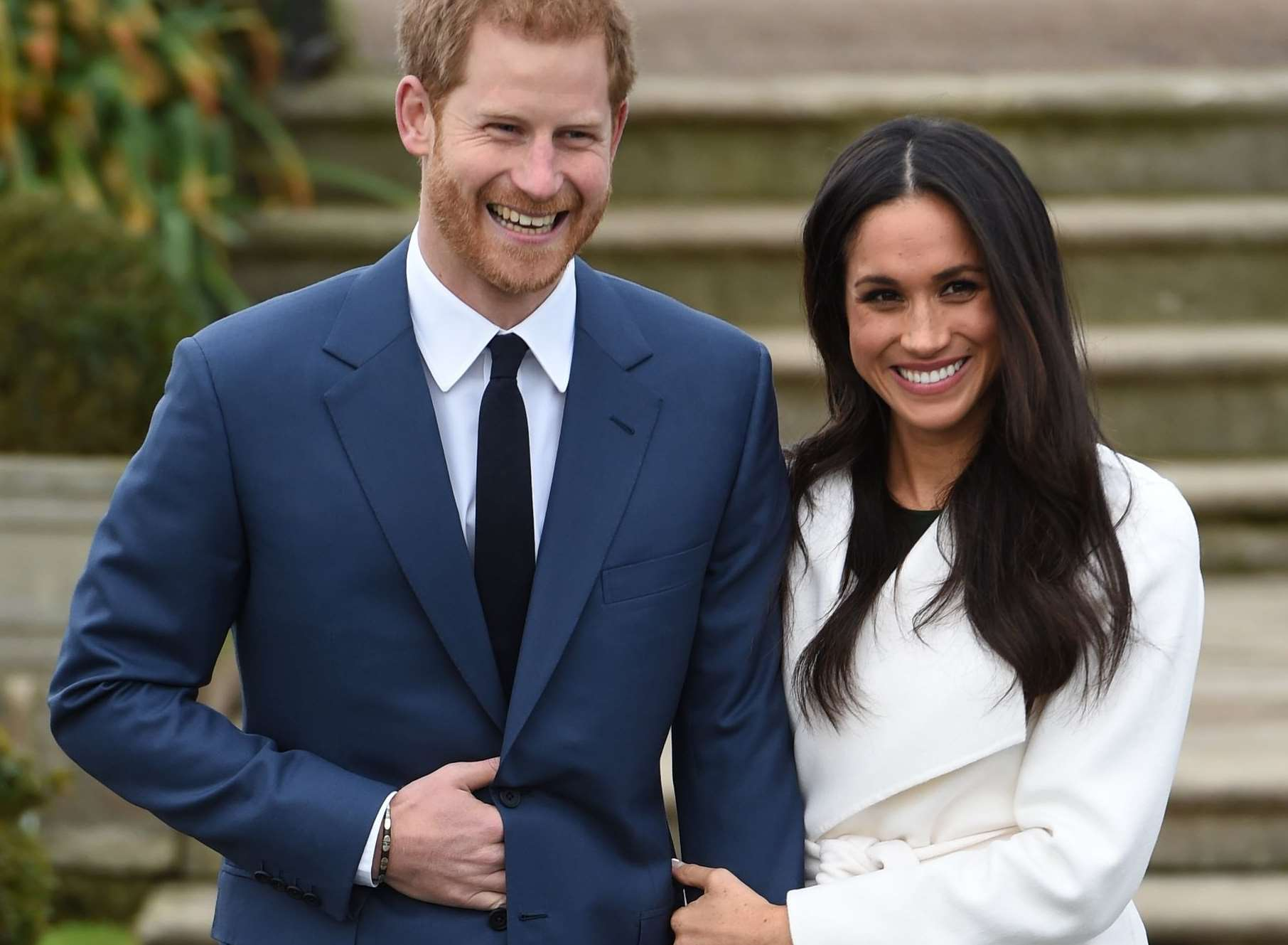 Prince Harry and Meghan Markle after announcing their engagement. Picture: Eddie Mulholland/Daily Telegraph/PA Wire
