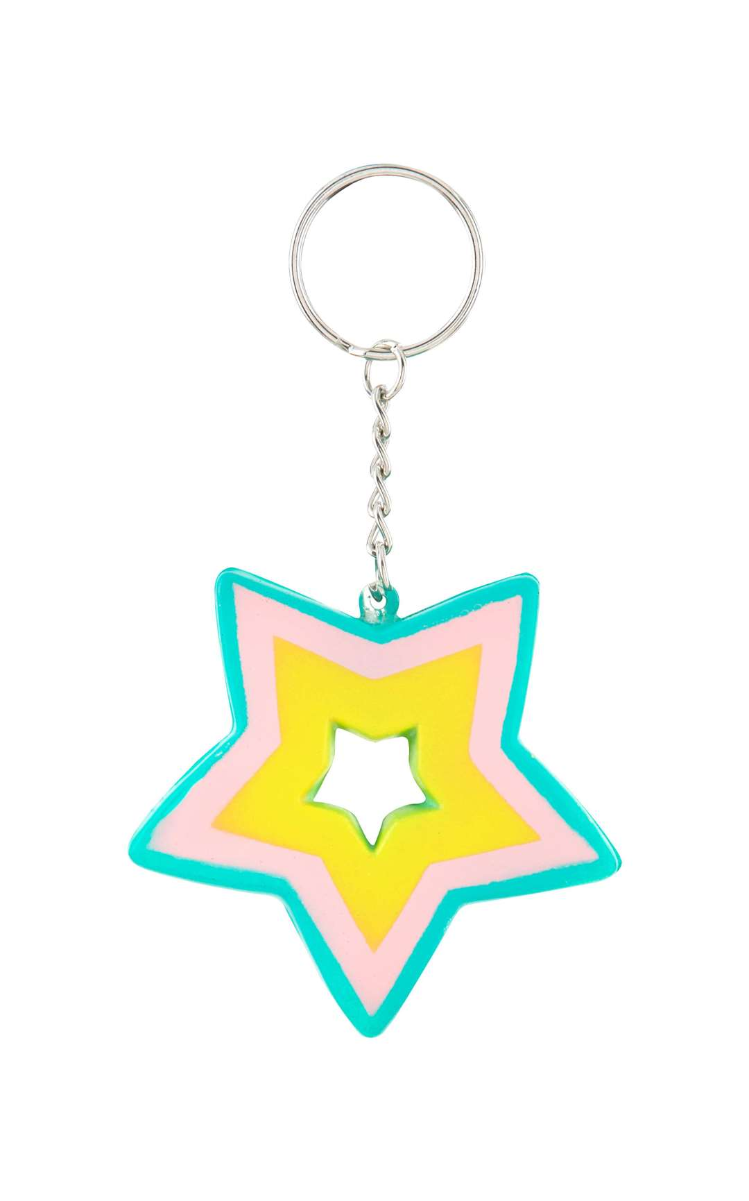 Great keyrings in heart and star shapes, £1 each