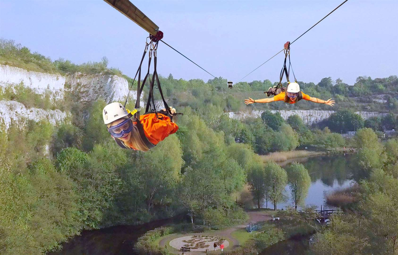 Are you brave enough to try the zip wire?